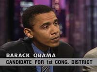 "Barack Obama on WTTW's ""Chicago Tonight"" program"